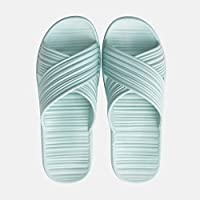 fankou The Bathroom Slippers Female Summer Seasons of Your Living Room. The Bathroom Has a Non-Slip Soft Plastic Shoes, a Family of Three Men and,36-37, Light Blue Slippers