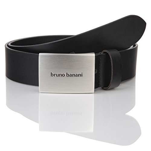 Ledergürtel Herren / Gürtel Herren Bruno Banani, Rindleder schwarz, 30009, Größe / Size:115;Farbe / Color:schwarz (Rindleder Schnalle)