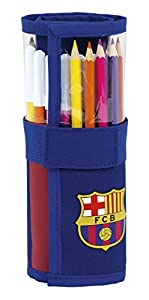 Safta Estuche Enrollable F.C. Barcelona 17/18 Oficial Útiles Incluidos 70x200mm