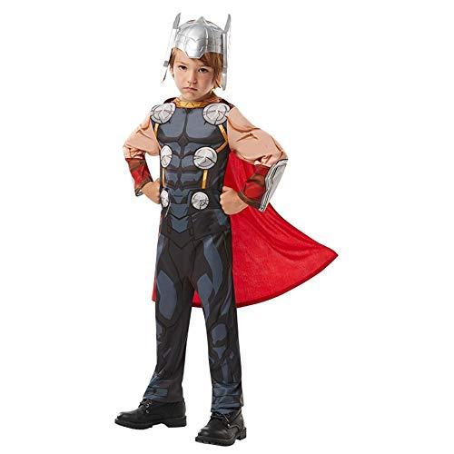 en Kostüm Kinder Avengers Batman Superman Fasching Karneval Cosplay: Farbe: Avengers Thor | Größe: 128 (L) ()