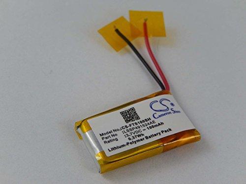 vhbw Li-Polymer Akku 100mAh (3.7V) für Fitnessarmband Fitbit Surge wie LSSP491524AE.