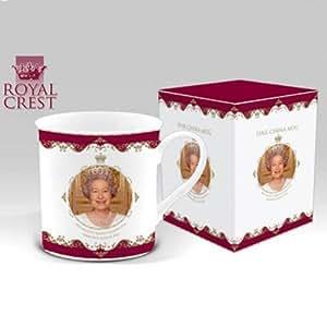 Elizabeth II 2012 Diamond Jubilee Commemorative Fine China Windsor Mug