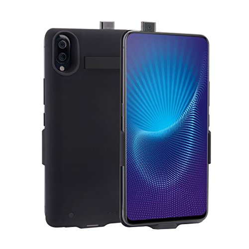 jia610203 Akku Hülle für Vivo NEX, Tragbare Ladebatterie Zusatzakku Externe Handyhülle Batterie Wiederaufladbare Schutzhülle Battery Pack Power Bank Akku Case für Vivo NEX-[Black]