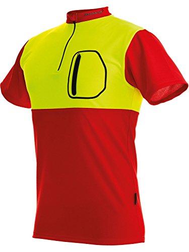 """Preisvergleich Produktbild Pfanner Funktionsshirt """"ZIPP-NECK"""" Leichtes T-Shirt mit Reißverschluss , Rot Gelb 104059"""