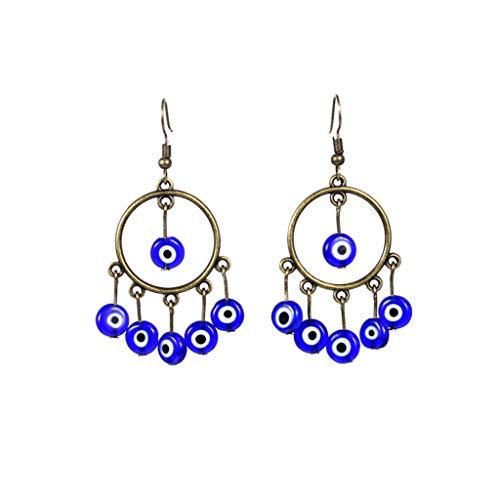 osfanersty Fashion Retro Frauen Ohrringe Trend National Charm Lady Blaue Augen Anhänger Schmuck Kleine Accessoires Geschenke
