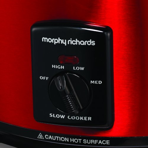 Morphy Richards Accents 48702 Sear and Stew Slow Cooker, 3.5 L – Red