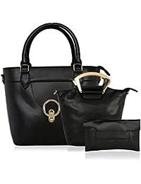 Kleio Designer Spacious Chic Satchel Handbag with Sling for Women/ Girls