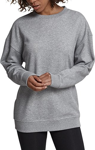 Urban Classics Damen Pullover Ladies Oversize Crewneck Grau (Grey 00111) Medium Crewneck Damen-sweatshirt