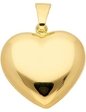 Gold 8 k ( 333 ) Motiv - Anhänger - Herz - B. 18 mm - H. 14,5 mm