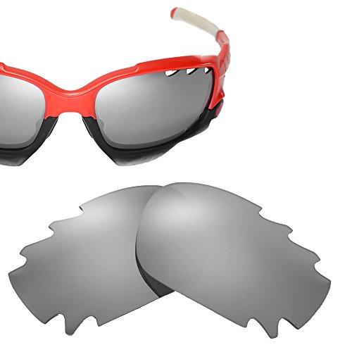 Cofery Ersatzgläser für Oakley Jawbone Sonnenbrillen, Verschiedene Optionen erhältlich, Unisex, Titaniun - Mirror Coated Non-Polarized, Einheitsgröße