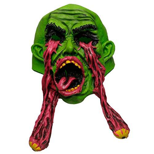 Ljshu halloween creepy monodose maschera divertente orrore costume disgustoso copricapo decorativo