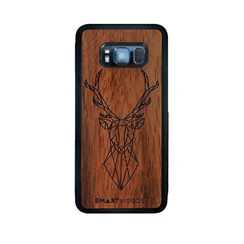 SMARTWOODS Deer Active Schützhülle für SAMSUNG S8, Holzcase für Smartphone, Handyhülle, Schutzhülle aus Holz für Smartphone, ökologisch, naturnah & original