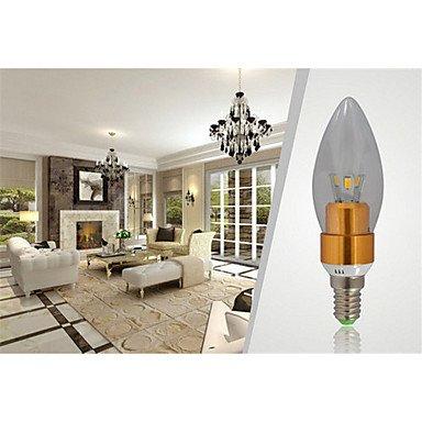 FDH 7W E14 650-700LM 3000-3500K Color blanco cálido estilo Velas LED Lámpara de vela (85-265 V)