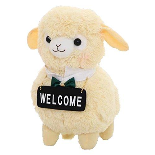 Sunching Niedliche Cartoon-Schaf-Plüsch-Spielzeug-Puppe Alpaca Maid Personalisierte Geschenkideen zum Geburtstag Spielzeug, Stofftier Puppe