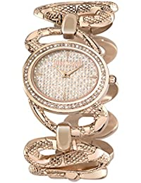 Just Cavalli Damen-Armbanduhr SINUOUS Analog Quarz Edelstahl R7253577507