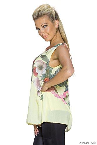 Fashion - Canotta -  donna Giallo