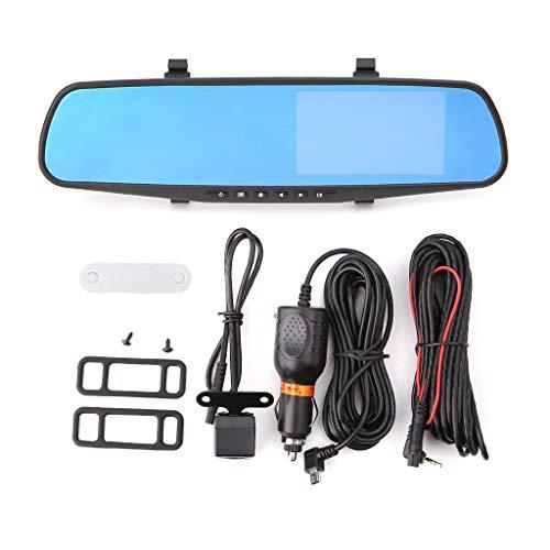 Auto DVR Kamera Dash Cam FHD 1080 P Dual Lens Auto Auto DVR Spiegel Recorder Auto Rückspiegel G-sensor DVRs ()