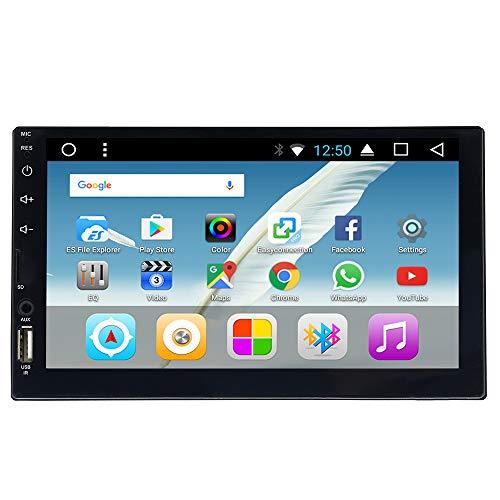 Android 7.0 Autoradio Octa Core 1.6GHz 2GB RAM/16GB ROM HD 2 din 7 Zoll Touchscreen GPS Navigationsgerät FM/AM/RDS Radio OBD BT WiFi Lenkradsteuerung Rückfahrkamera Armaturenbrett-Einbau-Videogeräte