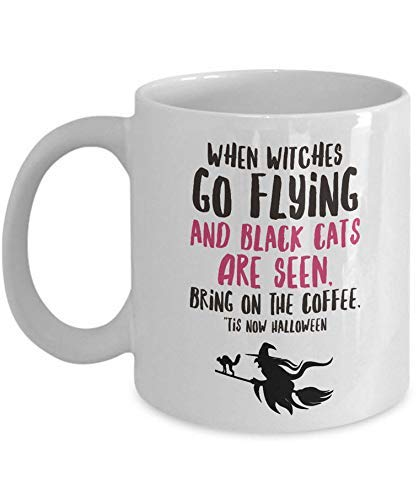 Halloween Witch Coffee Mug - 11oz Ceramic Mug For Halloween - Cool Halloween Gifts For Adults - Coffee Cup Halloween - Witches Coffee Mug