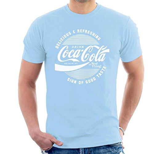 Coca Cola Circle Logo White Text Men's T-Shirt