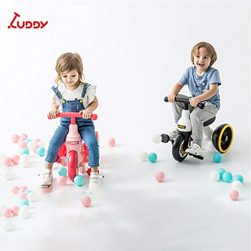 GSDZSY Kids Tricycle,with Silent Wheel,safe And Comfort, Suitable For 2-5 Year Old Baby,Yellow  GSDZSY