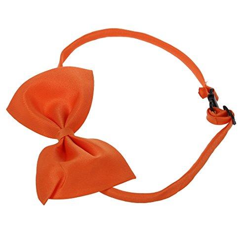 SODIAL (R) Hunde Katzen Haustier Fliege krawatte Halsschmuck Halsband Hundefliege Hundekrawatte dog Pet tie Necktie orange - 2