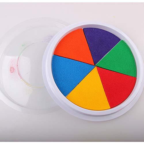 RONSHIN Kinder große Finger Malerei Pad waschbar Pigment Zeichnung Plam Stempelkissen Bunt (Große Finger-pads)