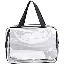 714a53145 Doitsa Neceseres de Viaje PVC Transparente Bolsa de Lavado Organizador para  Hombres y Mujeres Viajes Negocios