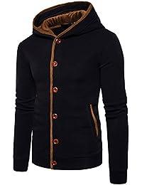 STTLZMC Homme Hiver Chaud Polaires Doublé Sweats à Capuche Cotton Manteaux Doux Blousons Sweat-Shirts Outwear Tops