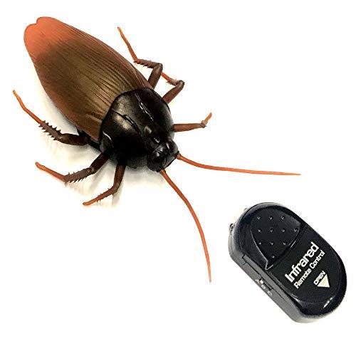 erngesteuerte Riesen Kakerlake Inkl. IR Fernbedienung Täuschend Echt | Elektrische Küchenschabe | Unheimliches Insekt | Batteriebetriebene Schabe ()
