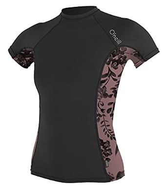 O 39 neill women 39 s side print upf50 sun protection rash for Custom sun protection shirts