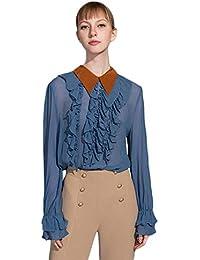 Eur es Mujer Ropa Amazon 50 Blusas 100 Transparentes USHpfW
