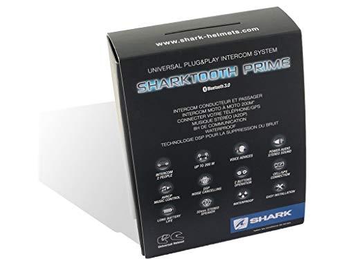 Shark SHARKTOOTH. Sistema de entretenimiento Bluetooth para motocicleta Prime.