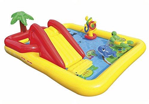 Intex 57454 - Playground Oceano, 254 x 196 x 79 cm, Giallo/Azzurro/Arancione