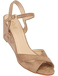 Tresmode Womens Party Wear Buckle Closure Wedges