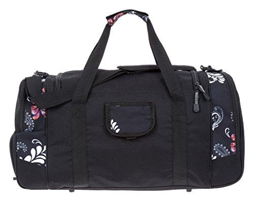 ALESSANDRO / ELEPHANT Sporttasche MATE Fitness Gym Tasche Reisetasche 55 cm / 45 Liter Black Paisley 7 (schwarz-weiss)