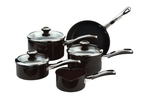meyer-select-advantage-aluminium-enamel-cookware-set-5-piece-black
