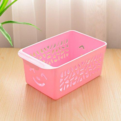 wicemoon Creative Emoji-Smile Fashion Gewinde leer Kunststoff Container Korb Gemüse Aufbewahrungskorb für Spielzeug, groß, plastik, rose, 23x14.5x10.5cm (Möbel Lagerung Körbe)