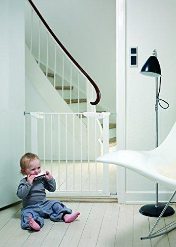 Baby Dan Premier TÜV / GS geprüftes Türschutzgitter / Treppenschutzgitter zum Einklemmen, 99 – 119.3 cm, Weiß – hergestellt in Dänemark - 2