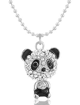 MESE London Diamant-Panda-Halskette Swarowski-Kristalle Anhänger - Elegante Geschenkbox
