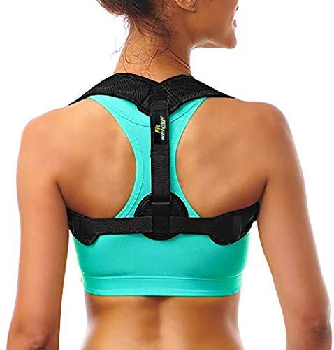 FitMotivaction - Correcteur de Posture Dos Épaules - Redresseur de Posture - Orthèse de Maintien de Dos - Unisexe Homme et Femme
