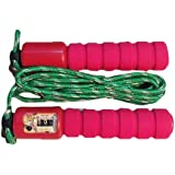 Adjustable Skipping Jump Rope With Counter & Comfortable Handles - Fuchsia