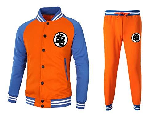 CoolChange Dragon Ball Son Goku Trainingsanzug im Baseball Style mit Jacke und Hose, Größe: M