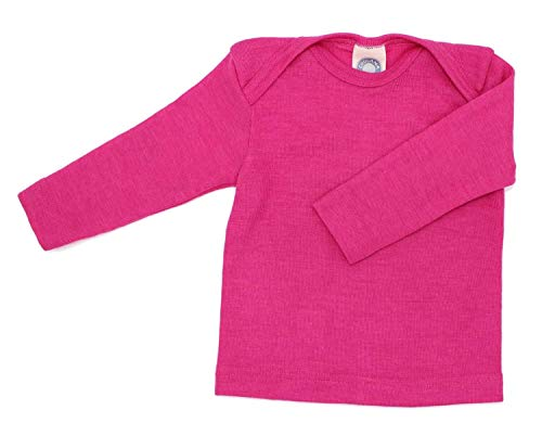 Cosilana Baby Schlupfhemd 1/1 Arm, Größe 86/92 in Pep-Pink aus 70% Schurwolle kbT, 30% Seide, ein Angebot der Nhos Service und Vertriebs GmbH - Wollbody