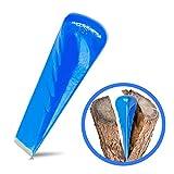 Trawomax® Spaltkeil zum Spalten von Brenn Holz - [2 kg] - Drehspaltkeil aus extra gehärtetem Carbonstahl mit hoher Langlebigkeit - Holzspaltkeil | Spalter für Holz | Spaltgranate (Metall, Blau)