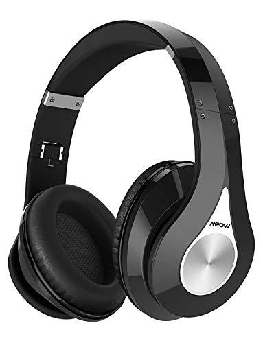 Mpow 059 Casque Bluetooth sans Fil sur l'Oreille, [ 20-25 Heures] Casque Stéréo sans Fil Hi-FI, Pliable, Protège-Oreilles Mous de Protéines, Microphone et pour PC/Téléphones Portables/TV/Tablette