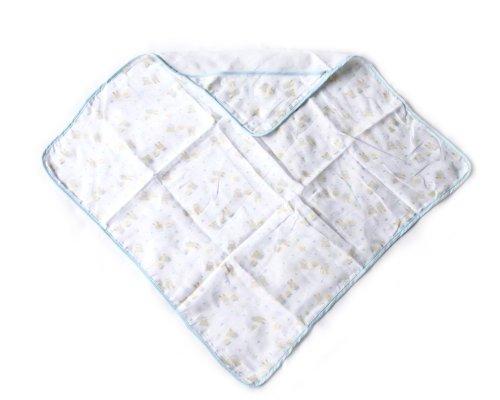 BONAMART ® Blue 70x70cm Newborn Baby Infant Girl Boy 4 Layer Soft Gauze Muslin Swaddler Blanket Bath Towel 100% cotton