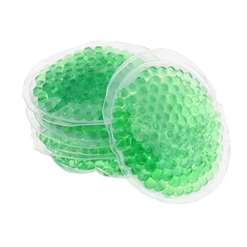 B Baosity 5 Klein Gel Maske Kühlpads Kühlakkus Ice Pack Kühlmaske für Männer, Frauen und Kinder zur Kältetherapie ,ca. 8 cm - Grün