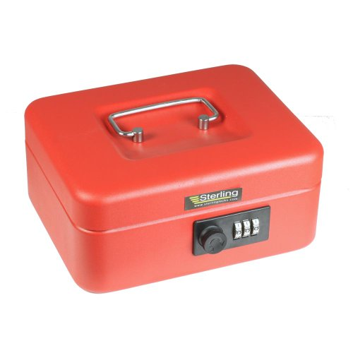 Sterling CB02C - Caja metálica dinero candado combinación