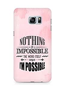 AMEZ Nothing is Impossible Back Cover For Samsung Galaxy S6 Edge Plus